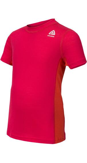 Aclima Lightwool - Camiseta manga corta Niños - rojo
